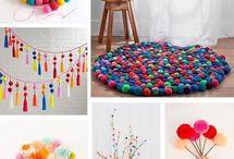 pompones para decorar