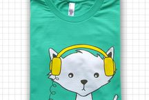 Cat People : T Shirts / Cat people love to let the world know we love everything feline.  T shirts are perfect for our public declaration of love.