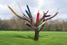 Turning dead tree into art