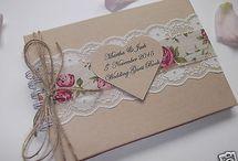 Esküvői vendégkönyv vintage