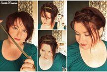 Cheveux - Courts, Curly ET coiffés / Idees coiffure pour cheveux courts et wavy. Réalisables,  c'est à dire en moins de 3 heures, 300 € de matériel et 3 mains !