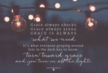 GRACE /  Grace is God's protection of his children--his umbrella. We can be aware of it or not.