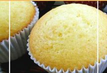 cupcakes esponjosos de naranja