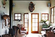Corrugated metal rooms