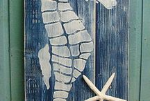 denizatı ahşap panoda