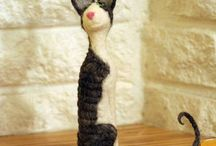 Felted Cornish Rexies