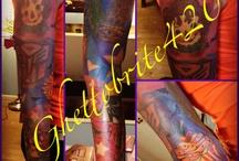 Tattoos by me Ghettobrite420