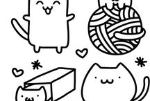 Free Kawaii Hand Embroidery Patterns / Totally free kawaii hand embroidery patterns! Stitch cuteness for free! ^_^