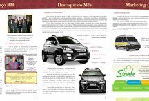 Edições Jornal Fiat Strada / Matérias redigidas e diagramadas para o Jornal Fiat Strada