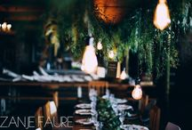 Jessica & Maritz Wedding - 23 September 2017 / Green foliage and rose gold/copper. Naked lightbulbs. Bringing the forest inside. Quirky.