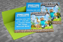 Minecraft party / by Stacy Burgeson
