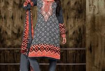 Ragini 7 / Beautiful Casual cotton wear straight fit Dresses with fine embroidery work done. Cotton bottom and Naasneen Duppatta included.
