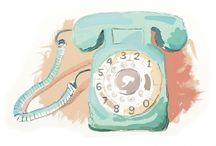 Objetos vintage / Ilustraciones artísticas realizadas en acuarela, óleo, pastel... de objetos vintages.