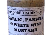 Krondorf Trading Co's Mustards / Here's where we'll show you the wonderful mustards we have on offer together with how to use them in menu ideas