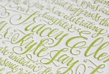 Inspiration   / Color, lettering and beautiful calligraphy that inspires me to create!