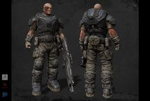 Gears of War Characters / This board is about Characters related to my gears of War Fan Fiction. Images created using Zbrush, Substance Painter, Photoshop and Maya