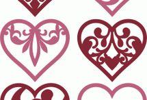 Szív filigránok