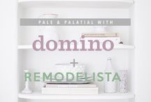 Remodelista + domino: Pale & Palatial  / A collaborative board between Remodelista & domino, to showcase our favorite white and luxe spaces.