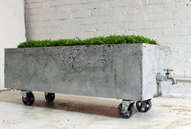Concrete Furniture and Accessories / Concrete furniture and home and garden accessories for indoor and outdoor. / by Urban Gardens