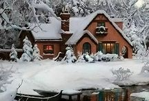 Baby, It's Cold Outside! / Cold, cozy nights, warm blankets & hot chocolate.  I get a little warm in my heart when I think of winter!