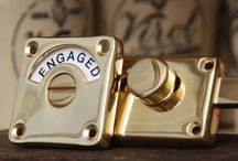 Buildmumahouse Bathroom Door Locks / Beautiful designs - easy to use for any age - quirky - vintage - luxe -  interesting