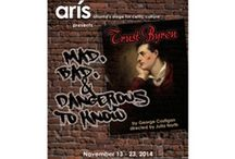 """Trust Byron at Aris Theatre / """"Trust Byron,"""" at Aris Theatre, is subtitled """"Mad, Bad and Dangerous,"""" which should give you some idea of what to expect. You're invited to spend an evening with the 19th-century Celtic hooligan, revolutionary warrior and dilettante, who was the world's first rock star and banished from England for his tumbling sexual appetite. Aris promises a funny, edgy, sexy and challenging piece of theater, featuring Winslow Thomas as Lord Byron. http://www.poshdealz.com/Trust-Byron-s/2136.htm"""
