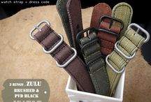 MILTAT G10 ZULU MILITARY WATCH STRAPS / It is made from 12 oz. washed canvas, strong & durable enough to carry your watches.