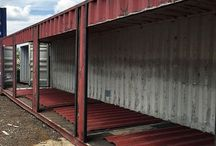 How to (Home Construction) / Different stages of transformation of a container...
