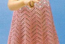 Схемы вязаных крючком платьев