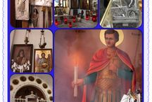 Santuário St. Nicholas, Tarpor Springs, Flórida. / Ex-votos de Tarpor Spring, na Catedral de St. Nicolas, que foi erguida em 1907, primeiro para acomodar a comunidade Grega de Tarpor Springs, Florida. Nos  anos 70, as ofertas aumentaram, quando uma faxineira observou que o ícone de St. Nicolas tinha lágrimas nos seus olhos. O fenômeno atraiu muitos devotos e especialistas da religião.