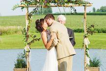 Summer Wedding / Outdoor Ceremony, Summer Decor, Summer Flowers, Outdoor Photography.
