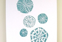 linocut monoprints and so on / by Linda Pelati