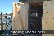 Shed Doors - Building Steps / How to build or replace a backyard shed doors. Step by step guide with illustrations.
