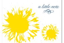 Sunflower Collection / We have so many different choices when it comes to our Sunflower collection! Greeting notes, Save the Date cards, Wedding programs, Wedding Invitations, Bat Mitzvah Invitations, Memorial Announcements, Place Cards, and Thank You Notes. Come see what we have to offer!