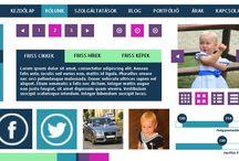Metro design / METRO webdesign by webTrendező / A webTrendező által létrehozott METRO design alapon nyugvó látványvilág