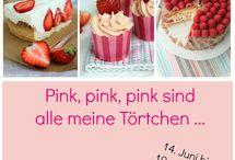 Pink, pink, pink sind alle meine Törtchen / Zu meinem Blogevent im Juni 2015 sammle ich hier alle wunderbar leckeren Beiträge. Es werde Pink, Rot und Rosa!