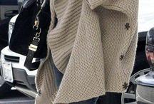 вязанные пальто