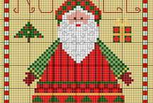 Gazette 94 - Christmas, New Year & Winter Designs / Free Patterns from Gazette 94.  For colour key please visit blog, please note not all have a colour key.  Beautiful designs you can't wait to stitch.  You will also find some wonderful Father Christmas designs here.