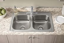 Stainless Steel Sinks / Our Portsmouth Stainless Steel kitchen sink is equipped with sound pads to reduce noises, and heat/condensation protection for long-lasting quality.