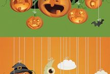 Halloween child vector set_01