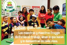 Cualidades de maestros Froggin / ¡Nuestras maestras y maestros reúnen cualidades únicas!