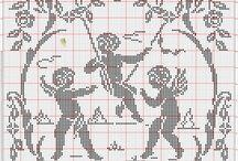 angeli / schemi punto croce di angeli