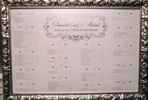 Custom Seating Charts / Custom designed seating charts for weddings and special events / by Gourmet Invitations