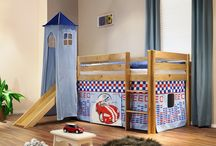 Kinderhochbett / Kinderhochbetten mit Rutsche, Turm oder Tunnel