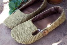 Sewing slippers, shoes