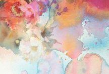 цветы арт рисовать