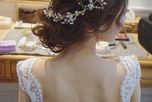 ウェディング 髪の毛
