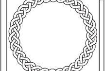 Woodburning celtic designs
