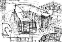 Szkice Architektura -  Drawing Architecture / Szkice Architektura -  Drawing Architecture Inspiracje  Dom Budynki Mieszkalne Pomysły i praktyczne rozwiązania Dobre rozmieszczenie budynków