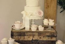 Wedding cake and/or cupcakes bruiloft 2015